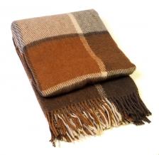 Плед 100% шерсть 140*200  цвет 30/12  терра-коричневый