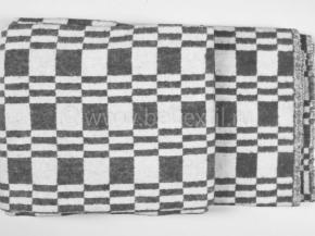 Одеяло хлопковое 140*205 клетка Колосок цвет темно-серый