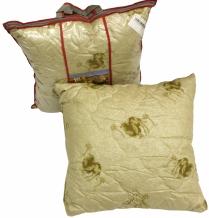 Подушка тик полиэфирный/ 2-х  камерная/ стежка/верблюжья шерсть 70*70