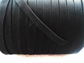 Резинка вязаная 10мм, черный (рул.200м)