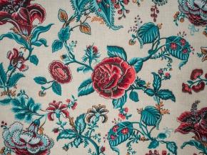 Ткань бельевая арт 06С-68ЯК п/лен отб.набивной рис 1687/4 Цветочный прованс, ширина 150см