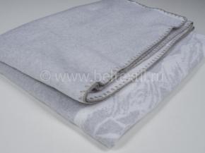 Одеяло хлопковое 140*205 жаккард 05/31 Города мира цвет серый