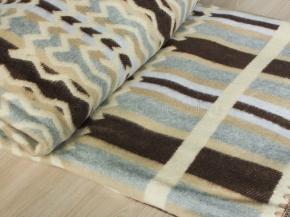 Одеяло хлопковое 200*205 жаккард цв 2 коричневый с серым