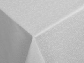 "Ткань скатертная арт.14С7SHT ""Мирелла"" рис 001 цвет 010101 белая ширина 310 см"
