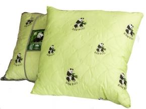 Подушка тик полиэфирный/ 2-х  камерная/ стежка/бамбук 60*60