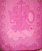 Одеяло п/шерсть 50% 100*140 жаккард цвет розовый