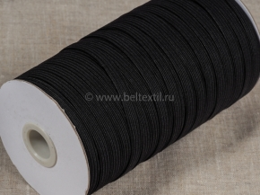 Резинка ткацкая 8мм, черный (рул.100м) Тип F