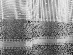 1.55м Д85АГ/155 ПОЛОТНО ГАРДИННОЕ белый с серым