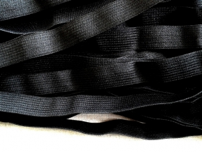 Резинка вязаная 15мм, черный (рул.100м)