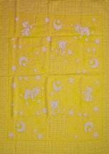 Одеяло хлопковое 90*100 жаккард 20/6 цвет желтый