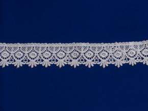 Кружево гипюр Ajur HX 33895-w/ш.6см, белый (рул.29,2м)