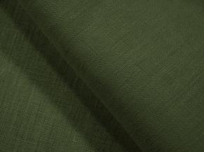 Ткань костюмная арт. 176003 лен гладкокрашеный Зеленый К4П2, ширина 150см
