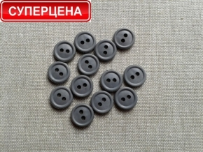 Пуговицы d-11/2 термо-химо-стойкие 160°С, двухсторонняя, серый*807 (уп.1000шт)