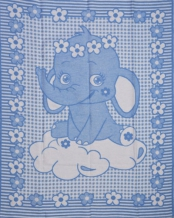 Одеяло п/шерсть 50% 100*140 жаккард цвет голубой