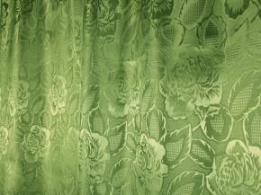 Жаккард T ZG L502-107/155 зеленый, ширина 155см