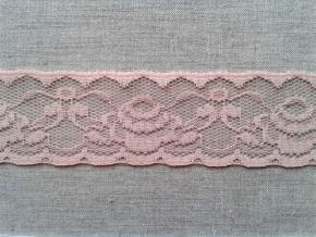 7С1-Г10-К Кружево рис.1068 ш.40мм, розовый (рул.50м)