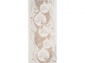 6с102.511ж2 Новогодние шарики Полотенце махровое 67х150см Лен+ х/б
