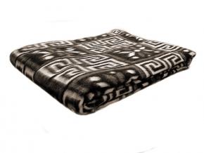 """Одеяло п/шерсть 50% 170*205 жаккард """"Греция"""" цвет коричневый"""