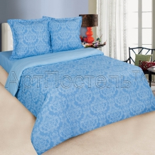 Поплин рисунок 9866-2 Византия голубой ширина 220см
