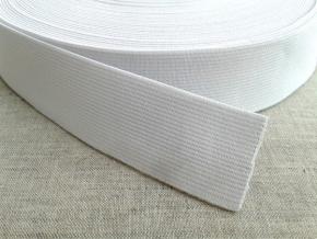 30мм. Резинка ткацкая 30мм, белая (рул.20м)