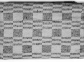 """Одеяло хлопковое 140*205 клетка """"Колосок"""" цв. серый"""