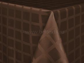 1809А-01 Скатерть 1/090902 Клетка шоколад 220*148 см