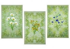 """14С204-ШР/п.р/с кор 45*70 набор полотенец из 3-х штук  """"Полевые цветы"""""""