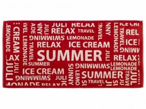 """13с2 полотенце махровое 70*140 """"Лимонад"""" цвет красный"""