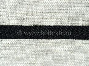 10мм. Лента киперная 10мм (1,68гр/м) черный (рул.100м)