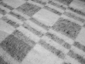 """Одеяло хлопковое 170*205 клетка """"Колосок"""" цв. серый"""