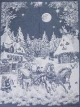 07с-39ЯК 50*70 Полотенце Русская зима цвет серо-голубой
