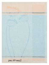 17с261-ШР 49*70 Полотенце Фенхель цв 2 роз. с синим