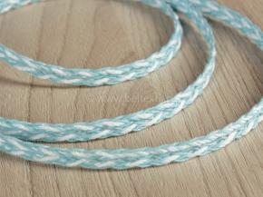 .6мм. 60202 ТЕСЬМА ОТДЕЛОЧНАЯ белый с голубым 6мм (рул.30м)