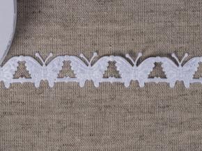 095030350 Лента декоративная шир.20мм, бабочки белый (уп.25ярдов/22,86м)