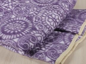 Одеяло байковое 140*205 жаккард цв. фиолет в канте  (Россия)