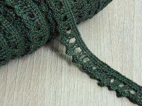 К-013-117-6 Кружево 13мм, зеленый