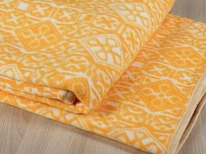 Одеяло байковое 140*205 жаккард цв. оранжевый в канте (Россия)