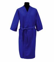 Халат вафельный мужской р-р.52 цвет синий
