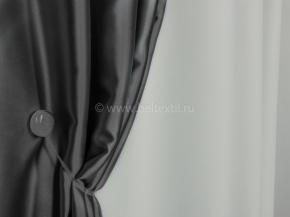 Ткань блэкаут C94 MIRA LIFE цв. 1-3А св.серый, черный, 300см