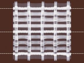 78мм. 08С3527ПЭ-Г50 ЛЕНТА ДЛЯ ШТОР белый 78мм, параллельная (рул.50м)
