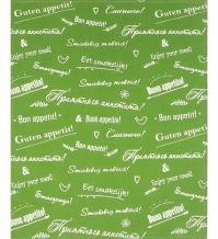 """Полотенце 47*61 """"Приятного аппетита"""" цвет зелёный"""