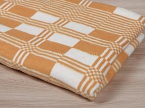 Одеяло байковое 170*200 клетка цв. бежевый