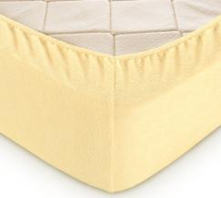 Простыня махровая на резинке 160*200*30 желтый