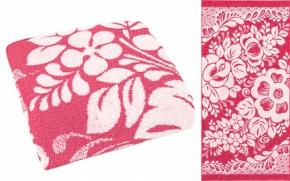 """16с23 полотенце махровое 50*100 """"Гжель"""" цвет розовый"""