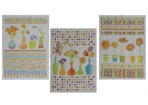 17с221-ШР/с кор 45*60 набор полотенец 3 штуки  Весенние цветы-3