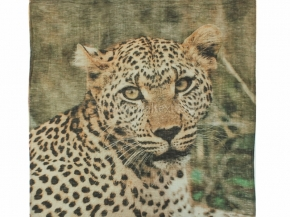 "18с239-ШР/039/у  Платок 135*135  ""Леопард африканский""цв 1 рис 837"