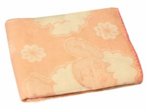 Одеяло хлопковое 90*100 жаккард цвет персик