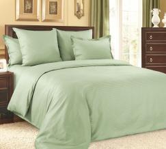 1315S КПБ 1.5 спальный сатин-страйп Зеленый чай