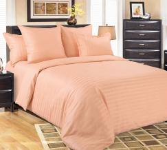 1315S КПБ 1.5 спальный сатин-страйп   Нежный персик