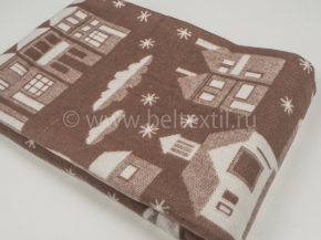 Одеяло хлопковое 140*205 жаккард 8/9, цвет коричневый